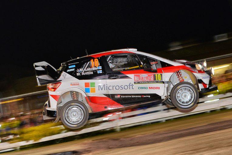 ラリー/WRC   WRC:トヨタ、ラリーGB初日は全車トップ10入り。「性能と信頼性の両面で問題なし」