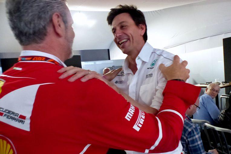 F1   【あなたは何しに?】メルセデスホスピタリティにアリバベーネとロス・ブラウンが登場