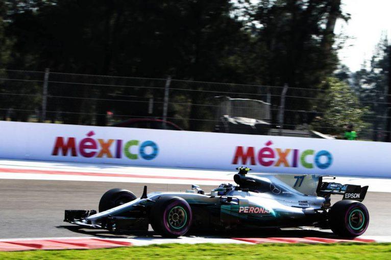 F1   F1メキシコGP:FP1はボッタスが首位発進、PUトラブル発生のバンドーンはノータイムに