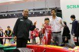 クルマ | TMS、シェフラーブースにルーカス・ディ・グラッシが来日。小学生ドライバーjujuと対面