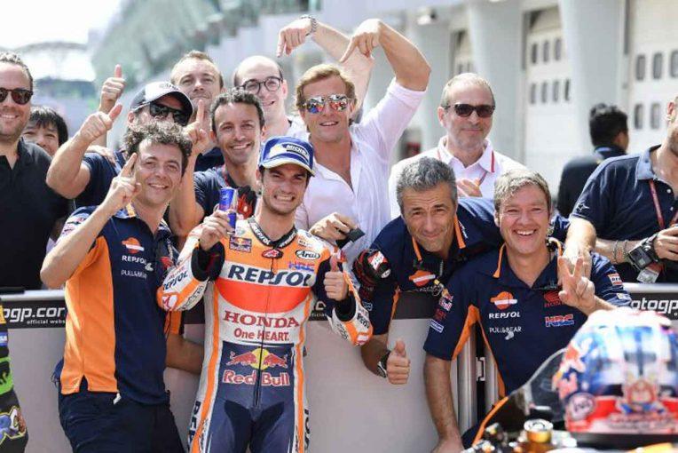 MotoGP   MotoGP:ペドロサ「とてもハッピーだよ」/マレーシアGP予選トップ3コメント
