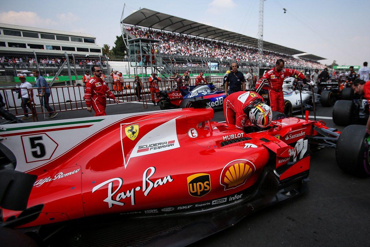 2017年F1第18戦メキシコGP セバスチャン・ベッテル(フェラーリ)
