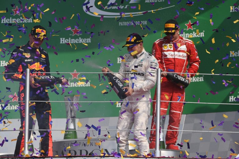 F1   ボッタス「スタート直後のアクシデントをうまく避けたことで久々の表彰台へ」メルセデス F1メキシコGP日曜