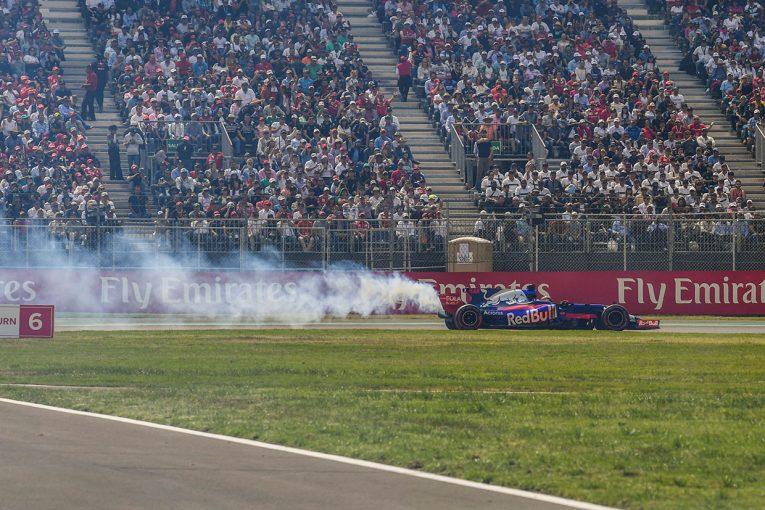 F1 | ハートレー「Q2でもエンジンが壊れて、今日も白煙が……」:トロロッソ メキシコGP日曜