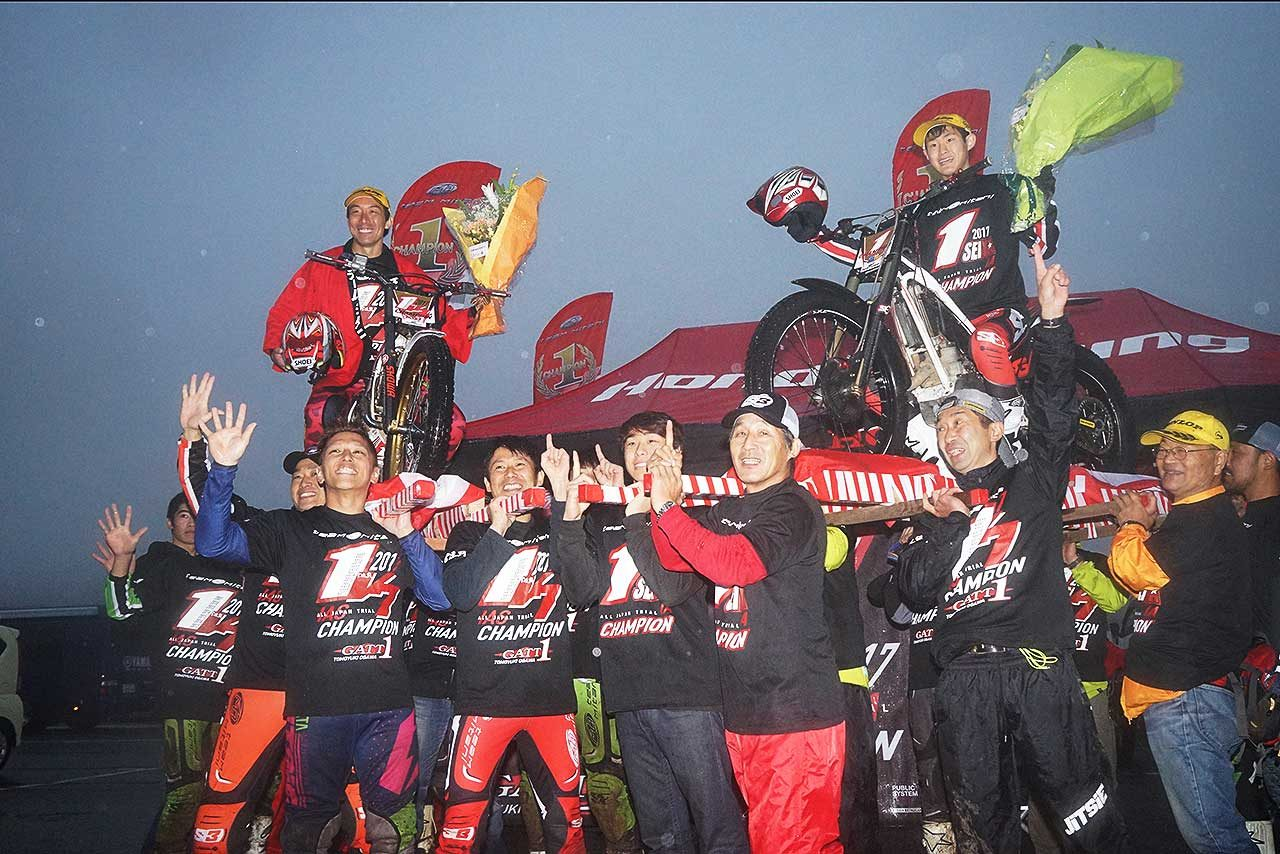 全日本トライアル、ホンダの小川友幸が5連覇を達成。通算7回目のタイトルを獲得
