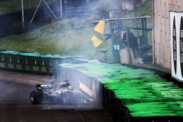 F1 | クラッシュのハミルトンはピットレーンスタートに。「僕も人間だからミスはする」/F1ブラジルGP予選