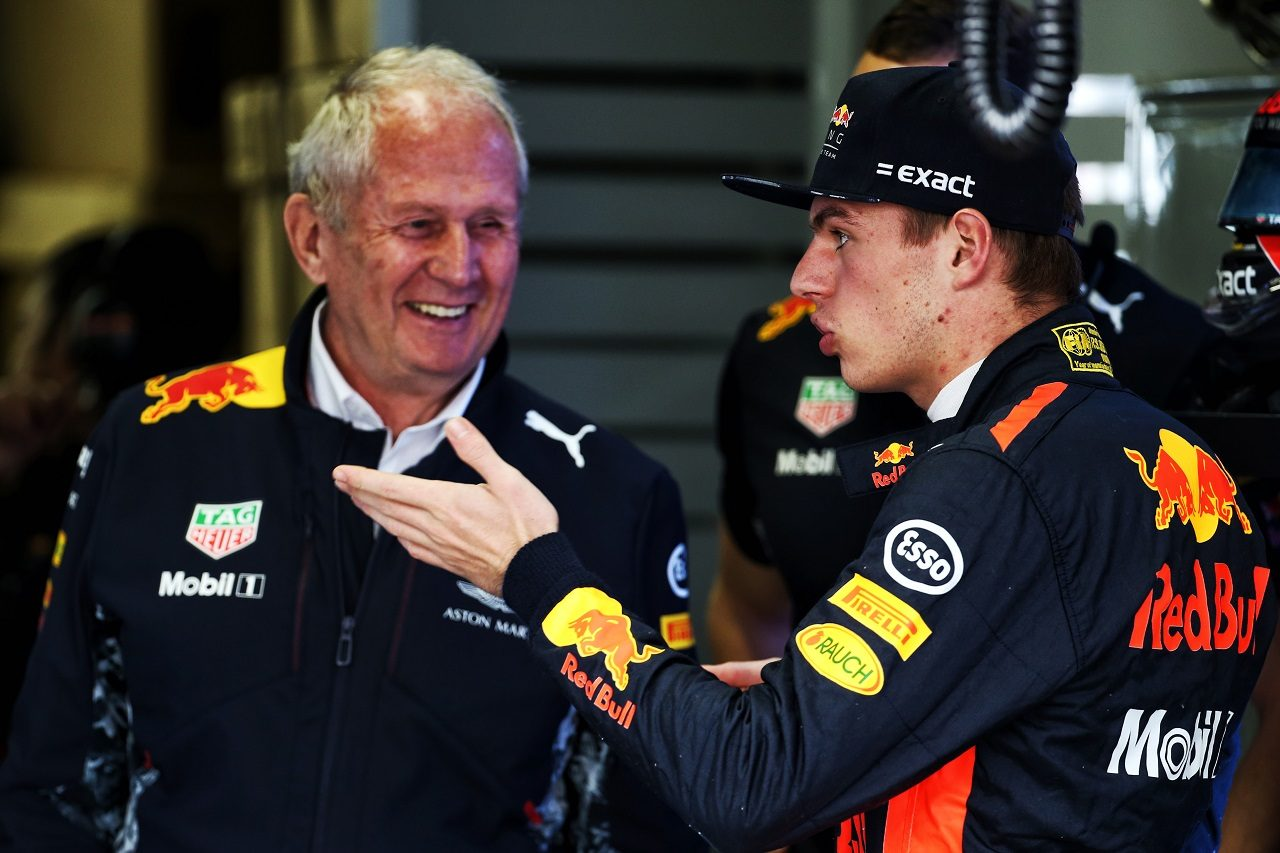 2017年F1第19戦ブラジル マックス・フェルスタッペン(レッドブル)とヘルムート・マルコ
