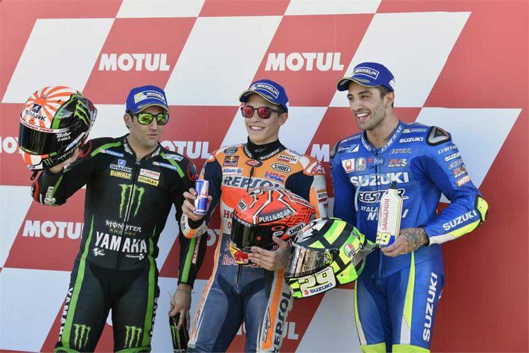 MotoGP   MotoGP:マルケス「転倒はしたけど原因は分かっている」/バレンシアGP予選トップ3コメント
