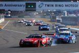 スーパーGT | タイトル候補がスタート前にまさかの接触。MOTUL GT-Rが最後に初優勝、KeePer平川&キャシディが初戴冠