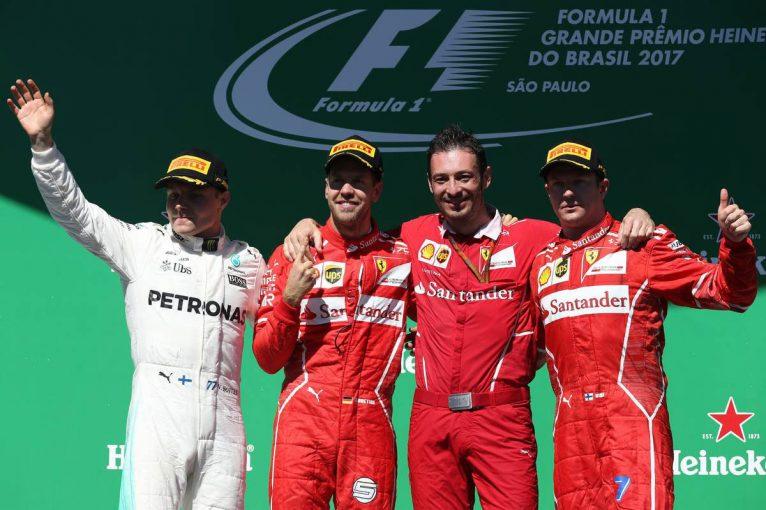 F1 | F1ブラジルGP決勝:スタート勝負を制したベッテルが逆転勝利、アロンソは8位入賞