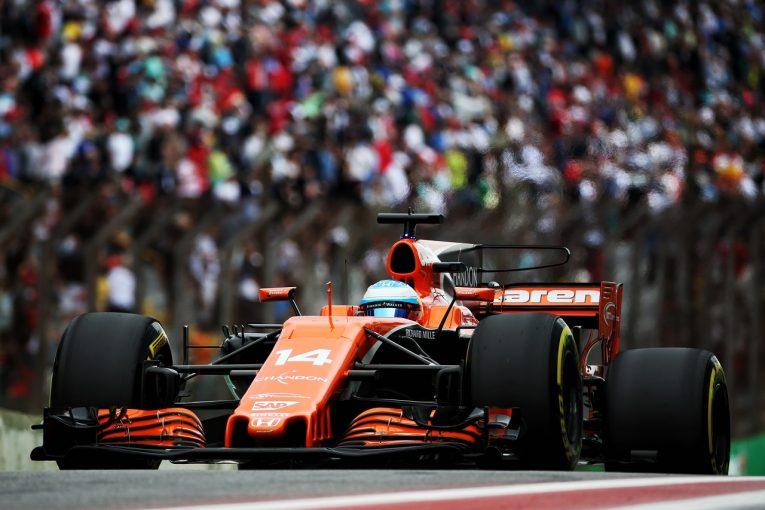 F1   ホンダ「アロンソの4ポイントで皆のハードワークが報われた。最終戦では力を出し切りたい」/F1ブラジルGP