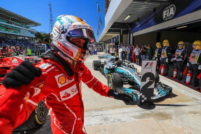 F1 | ベッテル優勝「一瞬、『ああ、ダメだった』と思った…。これほど難しいレースで勝てて最高」/F1ブラジルGP