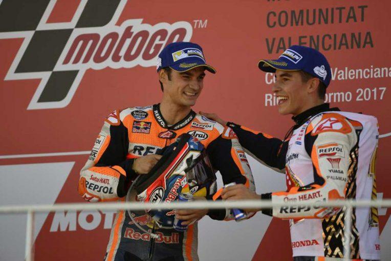 MotoGP   MotoGP:ペドロサ「うまくマネージできて優勝することができた」/バレンシアGP決勝トップ3コメント