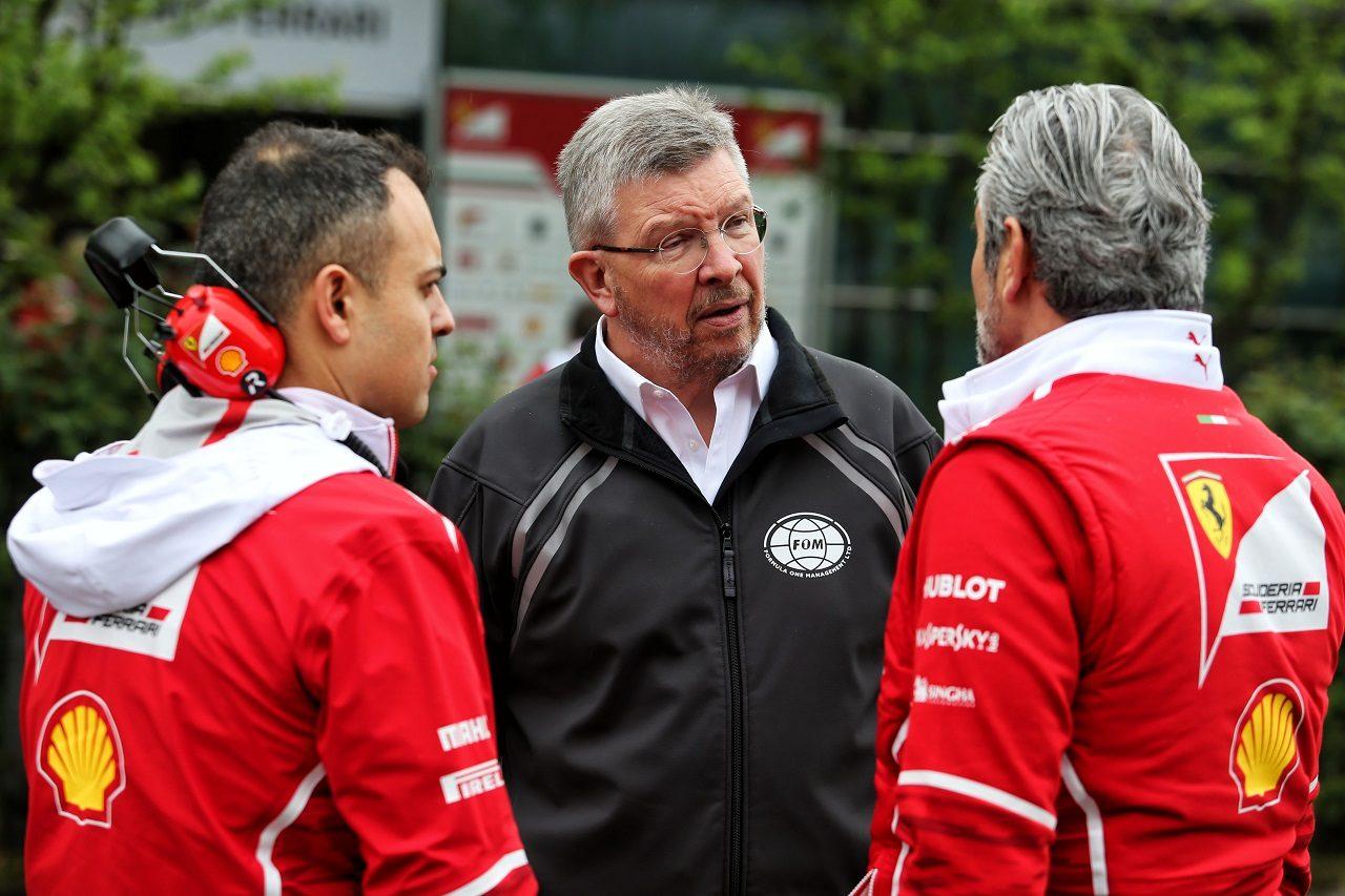 ロス・ブラウンとフェラーリチーム代表マウリツィオ・アリバベーネ