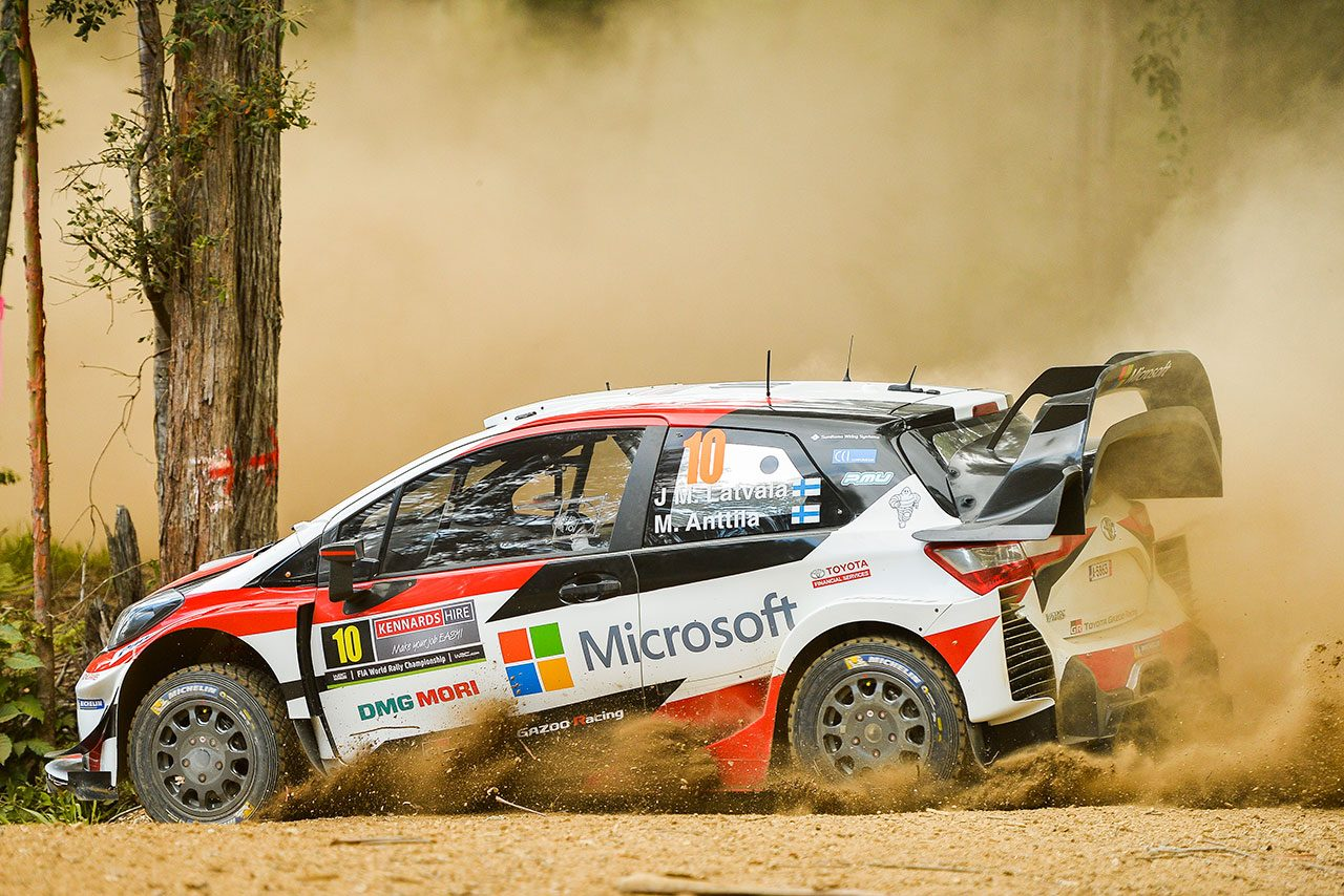 WRC:ラトバラ「本来の調子を取り戻した」。トヨタ、オーストラリアのシェイクダウンを完走