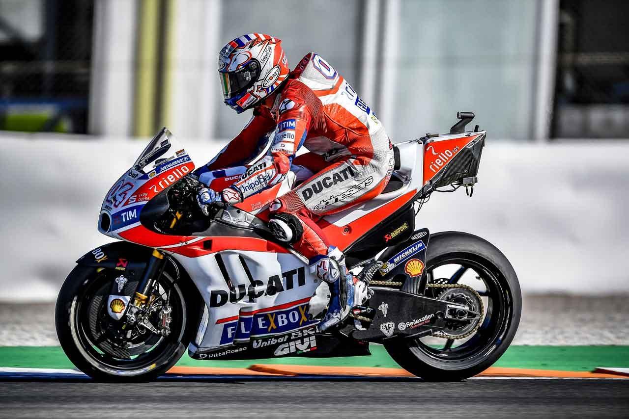 MotoGP:ドゥカティ、バレンシアで新型フォークをテスト。2018年型マシンはセパンで登場予定