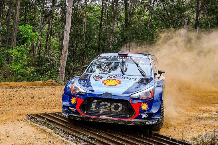 ラリー/WRC   ヒュンダイ首位キープ。トヨタは2番手/【順位結果】WRC第13戦オーストラリア SS16後