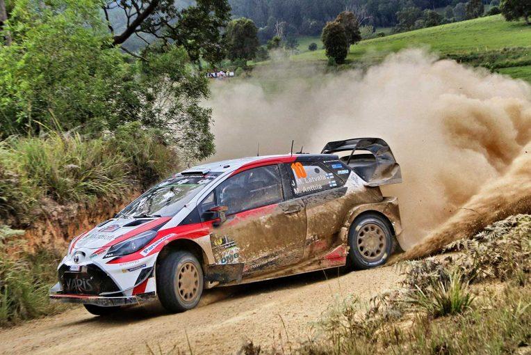 ラリー/WRC   WRCオーストラリア:前日首位のミケルセンがクラッシュ。トヨタのラトバラが総合2番手浮上