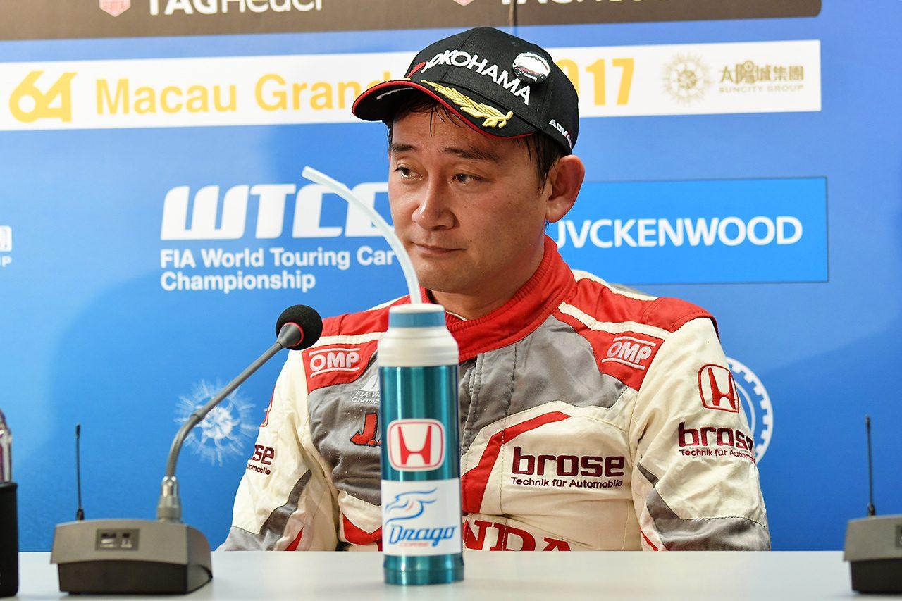 道上龍、WTCC初表彰台に喜び「一年間戦ってきて、こうして結果が出て良かった」