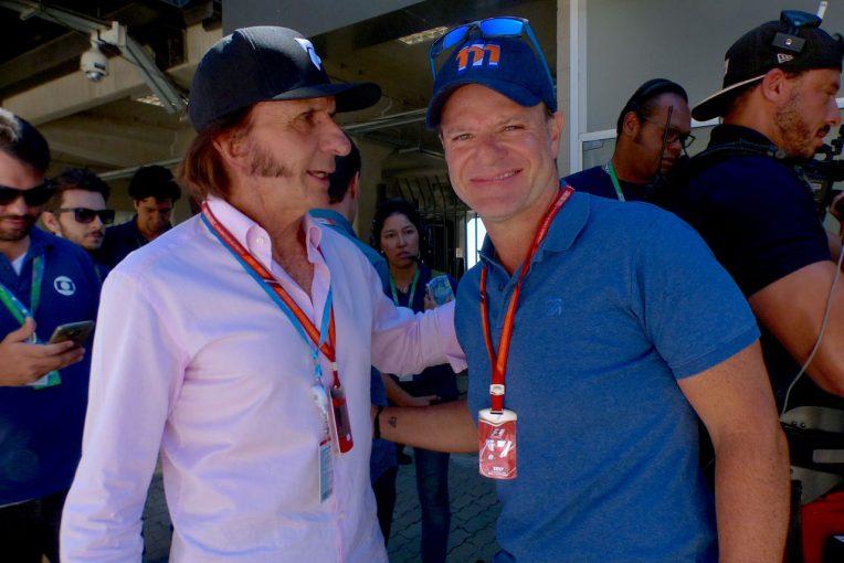 F1   【あなたは何しに?】ブラジルゆかりのF1関係者たちが集結。バリチェロは久しぶりの表彰台