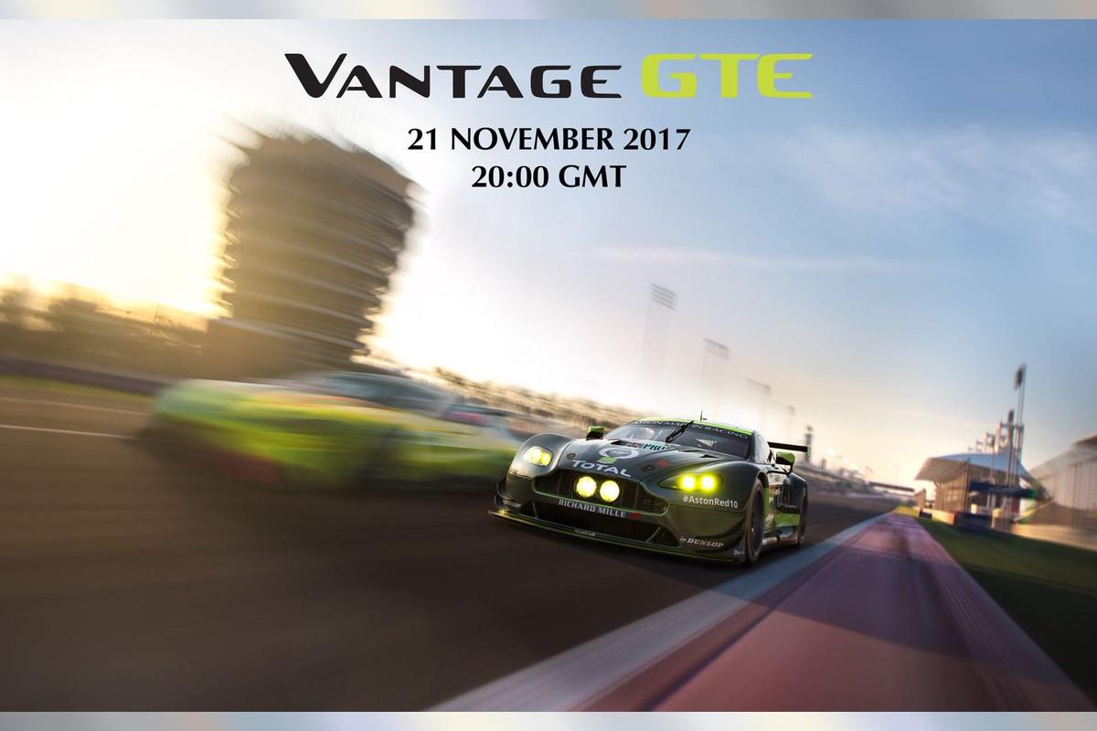 WEC:ロードカーと同日公開。アストンマーチン、新型『バンテージGTE』を11月21日発表