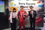 スーパーGT | 渋谷の一角がさながらサーキットに。『グランツーリスモSPORT』都市対抗イベントに松田次生が登場