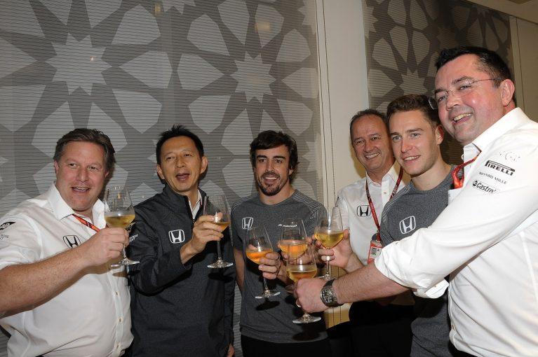 F1 | マクラーレンF1、別れの乾杯でホンダを称える「素晴らしいパートナー。いつかまた手を組む日が来るかも…」