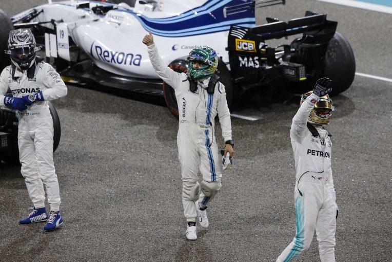 F1   マッサ、F1ラストレースで入賞「16年間、最高の経験ができた。家族と神様に感謝」:アブダビGP日曜