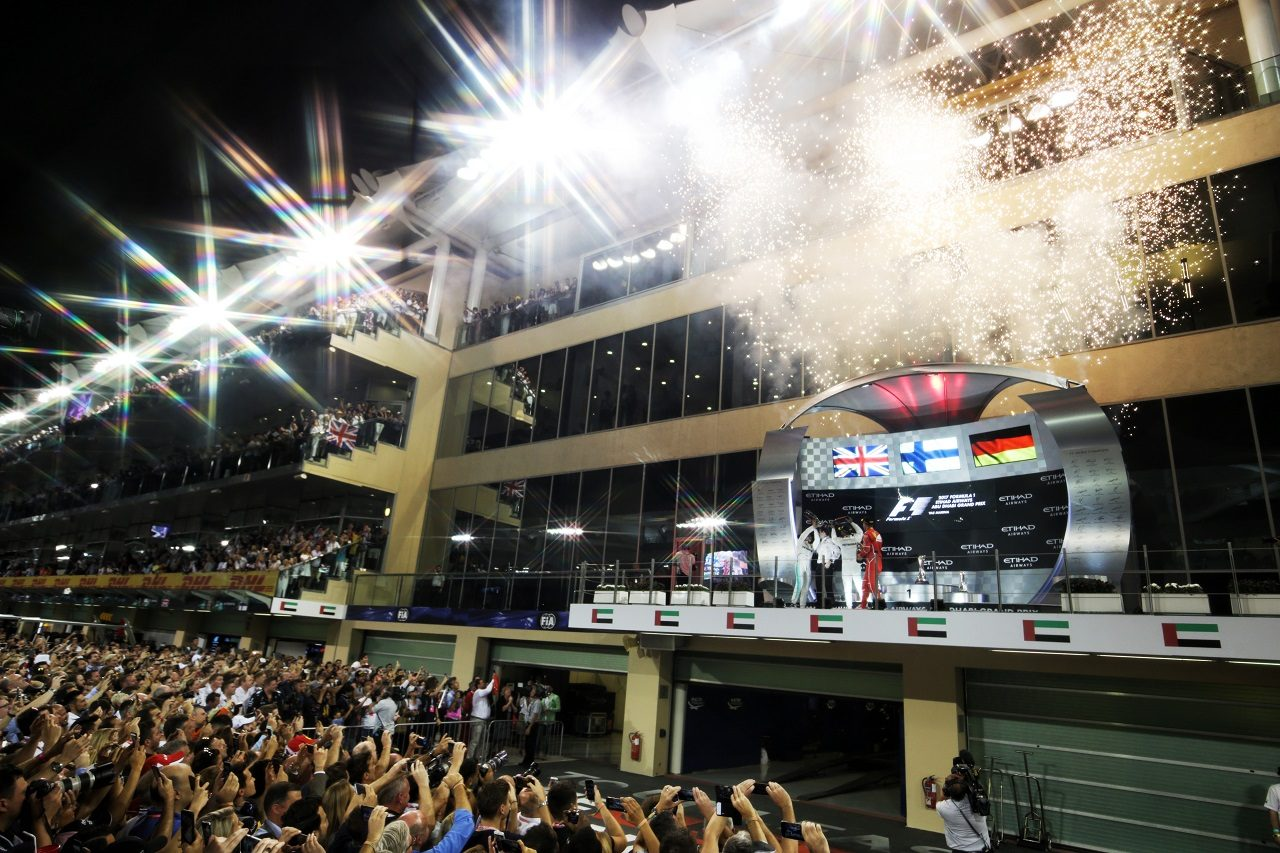 2017年F1アブダビGP表彰式