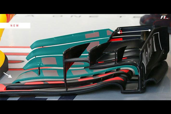 F1   F1アブダビGP技術解説(2):レッドブルがライバルに追随する形で新型フロントウィングをテスト