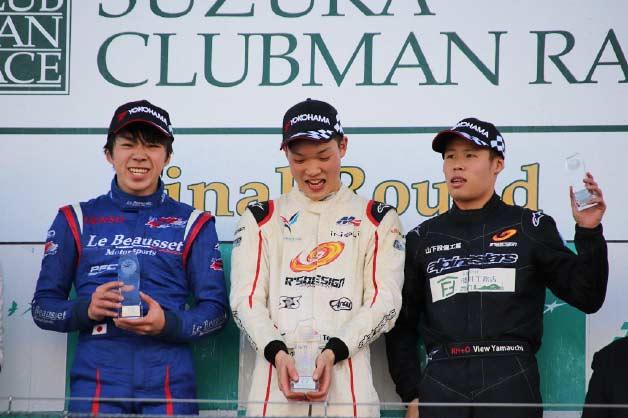 2位表彰台を獲得した小倉祥太