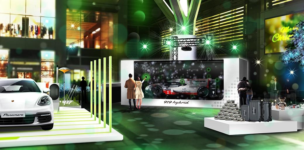 実寸大の919ハイブリッドを使った展示も。ポルシェ、六本木でクリスマスイベントを開催