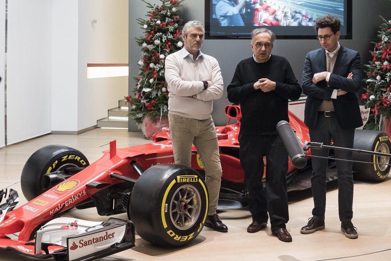 2017年フェラーリが恒例のクリスマスランチにメディアを招待