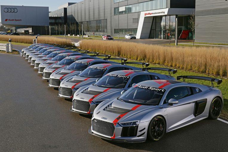 ル・マン/WEC   アウディ、新型GT4『アウディR8 LMS GT4』のデリバリー開始。12台が4大陸へ