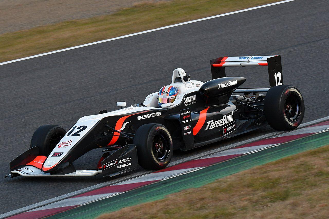 全日本F3:鈴鹿合同テストの1日目は宮田莉朋がトップタイム。阪口が2番手