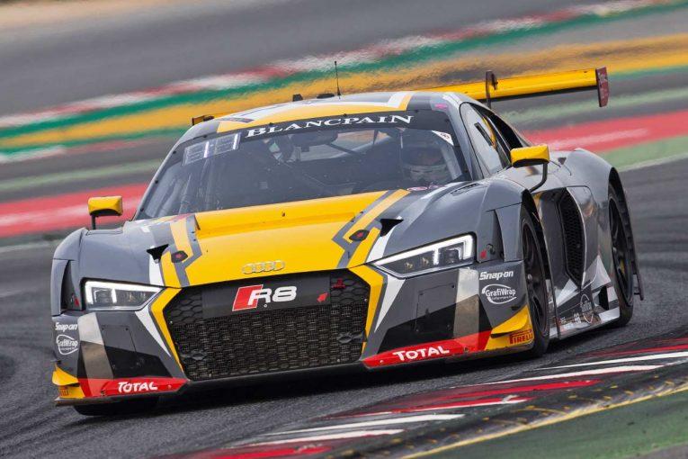 2017ブランパンGTシリーズ・スプリントカップのチャンピオンカーとなった17号車アウディR8 LMS