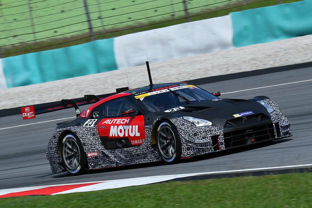 セパンでスーパーGTタイヤメーカーテスト開催中。GT500新型エアロ装着車も走行