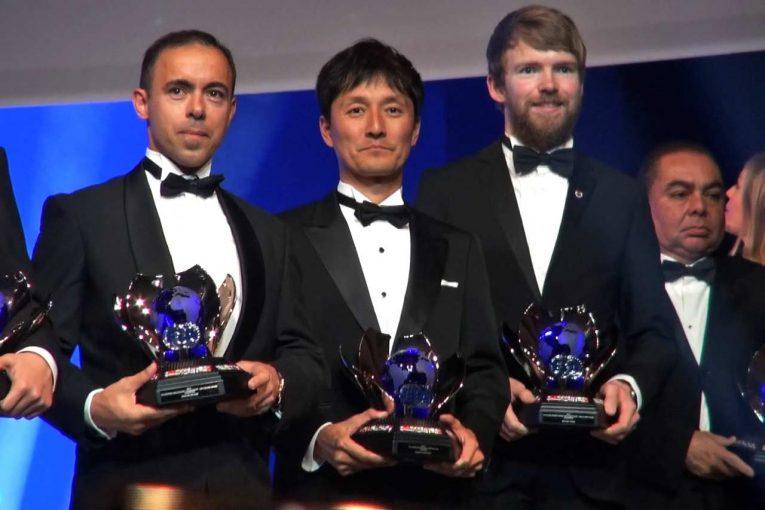 インターコンチネンタル・ドリフティング・カップ王者としてFIA年間表彰式に臨んだ川畑真人