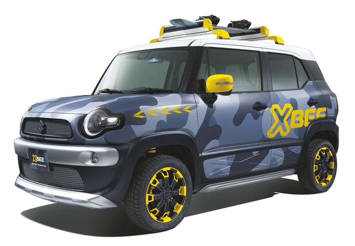 スズキ、GSX-S1000 ABSのカラーリングをまとったスイフトスポーツを東京オートサロンに出品