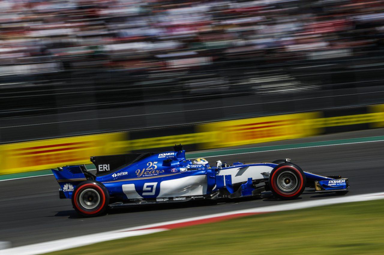 2017年F1メキシコGPでのエリクソン