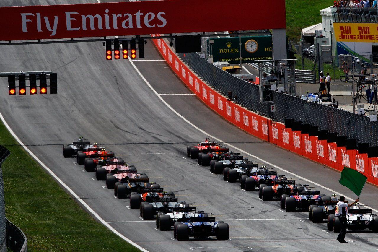 2017年F1オーストリアGPスタート