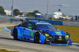 3GTレーシングが走らせるレクサスRC F GT3。2017年はロバート・アロンとインディカードライバーのセージ・カラムが14号車のステアリングを握った。