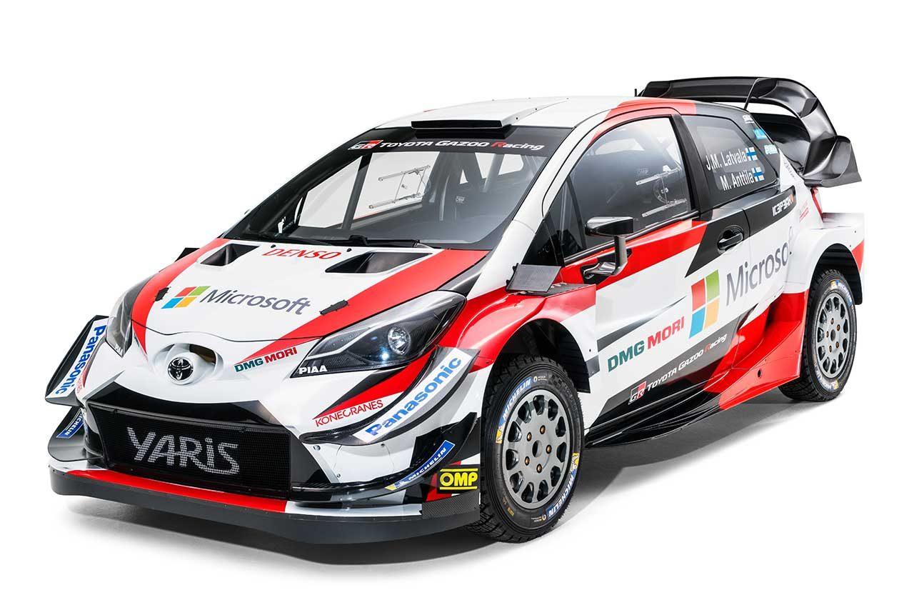WRC:トヨタ、2018年型ヤリスWRCをお披露目。フロントの空力パッケージを改良
