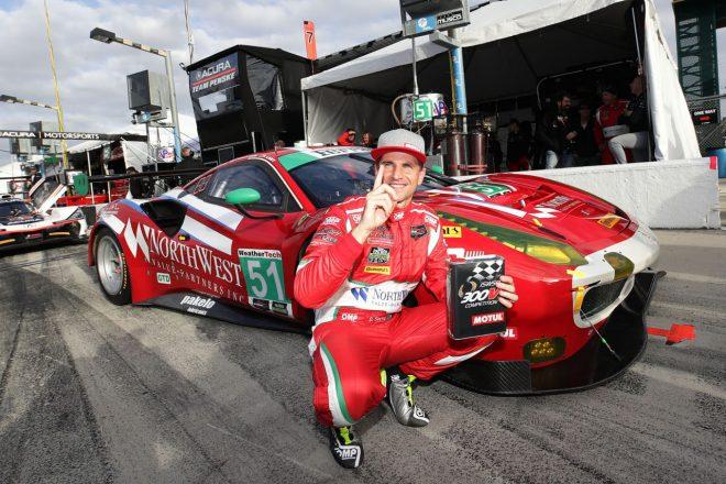 2017年のル・マン24時間ウイナーであるダニエル・セラがIMSA初レースでGTDクラスのポールポジションを獲得した