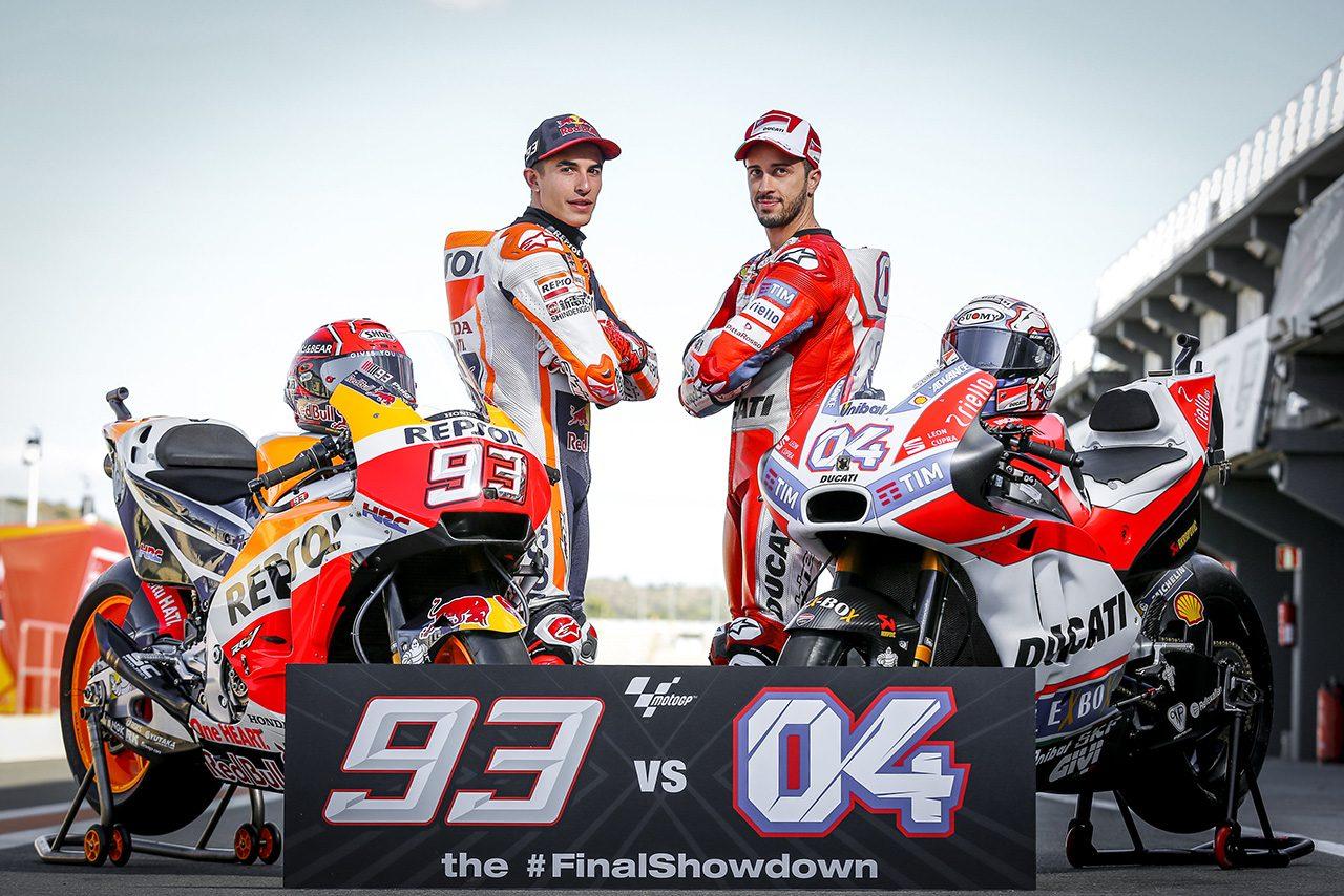 2017シーズン、チャンピオン争いを展開したマルク・マルケスとアンドレア・ドビジオーゾ