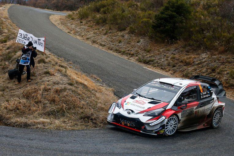 ラリー/WRC | WRCモンテカルロ:トヨタ新加入のタナクが2番手浮上。ラッピ、ラトバラも表彰台射程圏