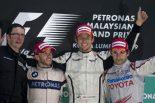 F1 | F1マレーシアGP決勝、降雨赤旗中断でバトンが開幕2連勝を達成
