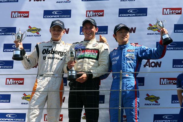 中嶋大祐、イギリスF3第5戦で初表彰台を達成(1)
