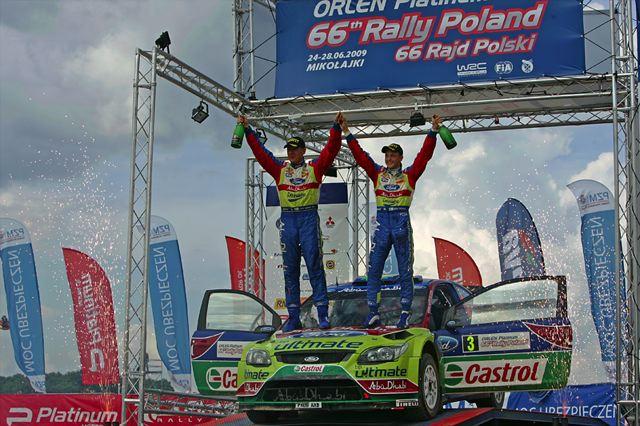 """WRC第8戦:ヒルボネン優勝も、ラトバラ""""あり得ないリタイア""""で暗いポーランドの表彰台(2)"""