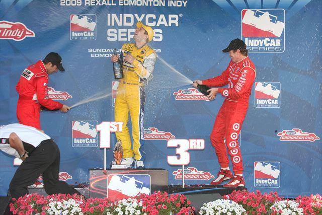 IRL第11戦エドモントン:ウィル・パワーがIRL初優勝、カナーンは燃料引火でリタイア(1)